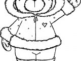 Winter Bear Hi Coloring Page