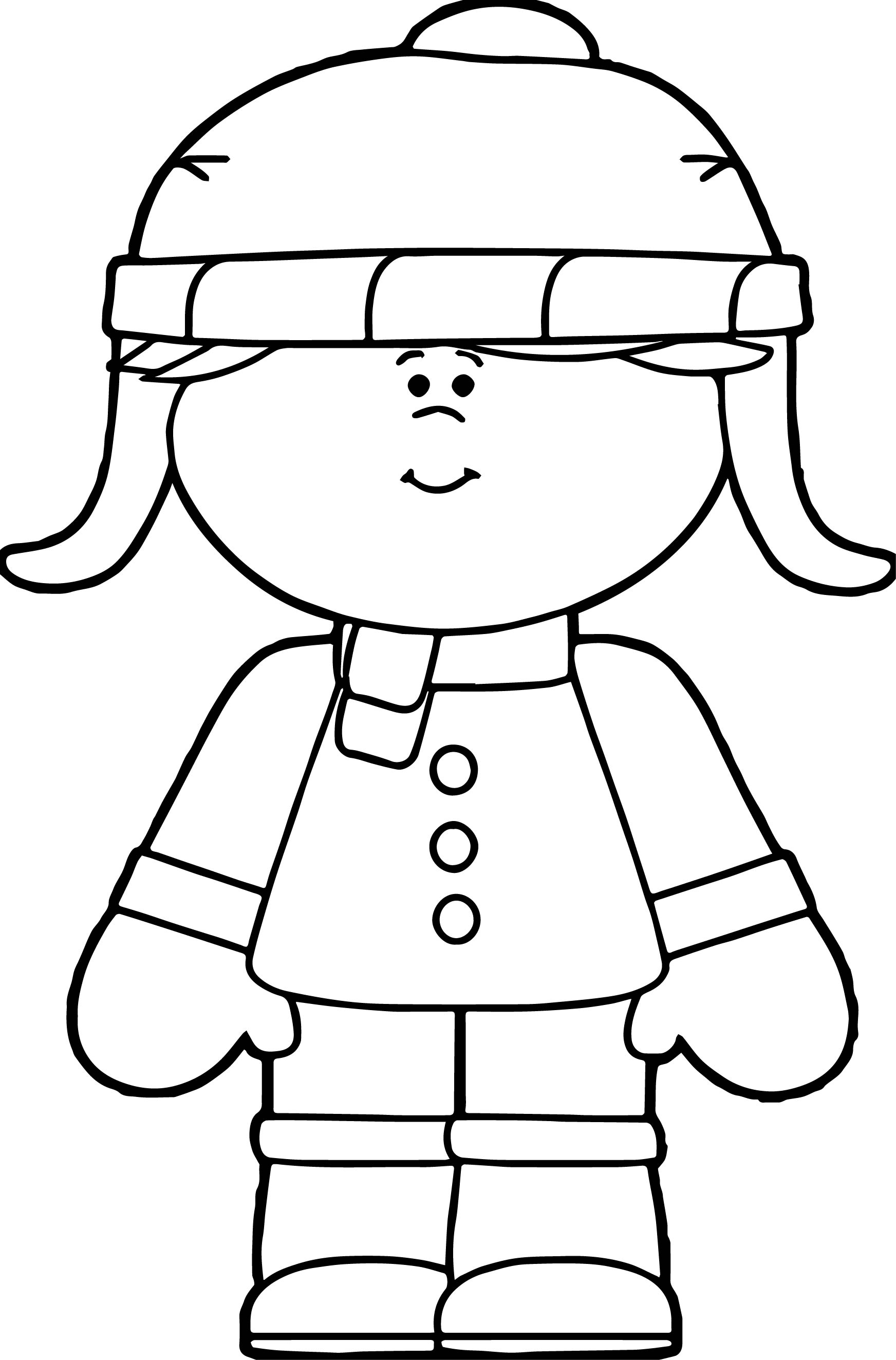 Winter little girl dressed for winter coloring page for Little girls coloring pages