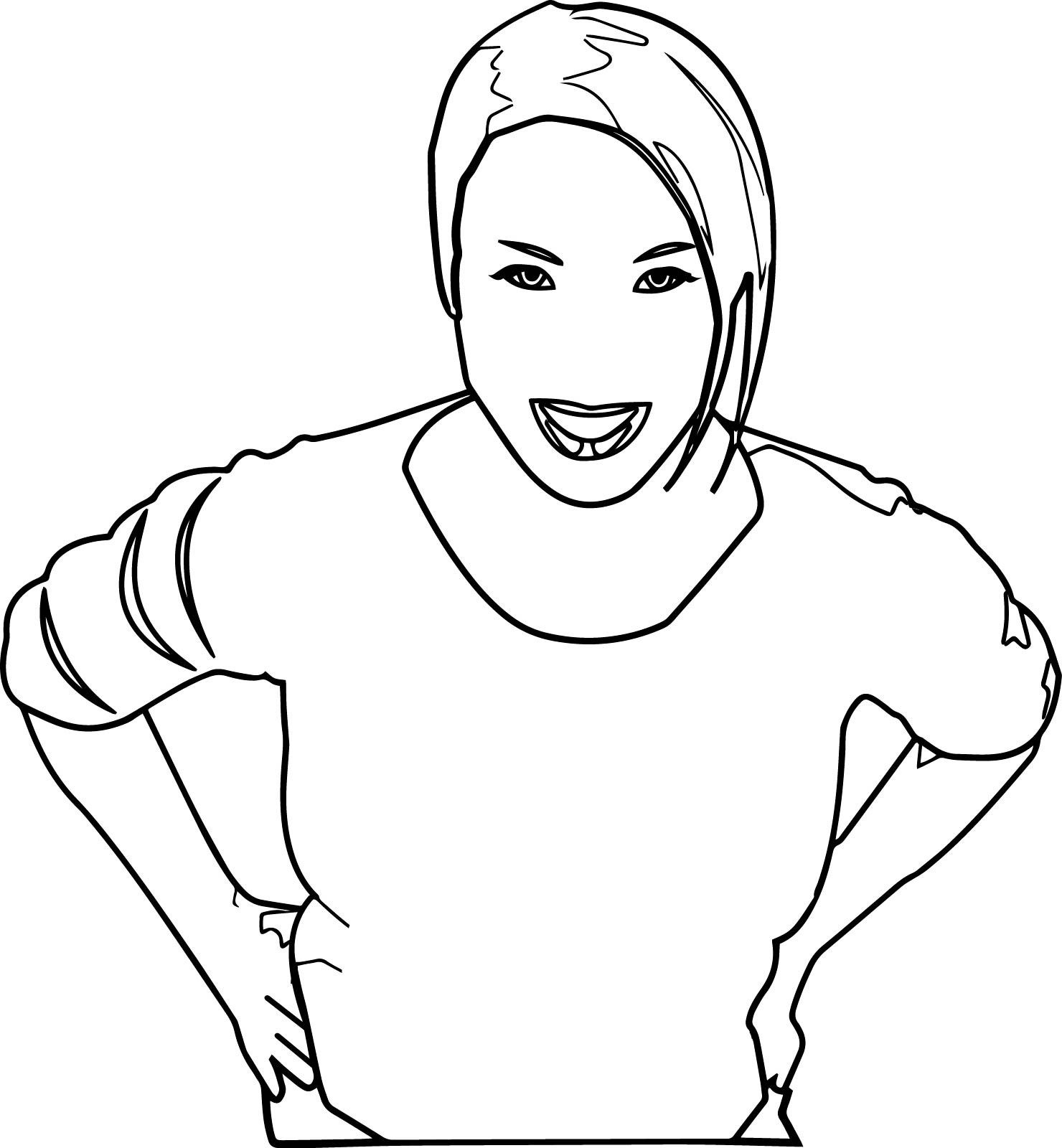 Women From Above Coloring Page
