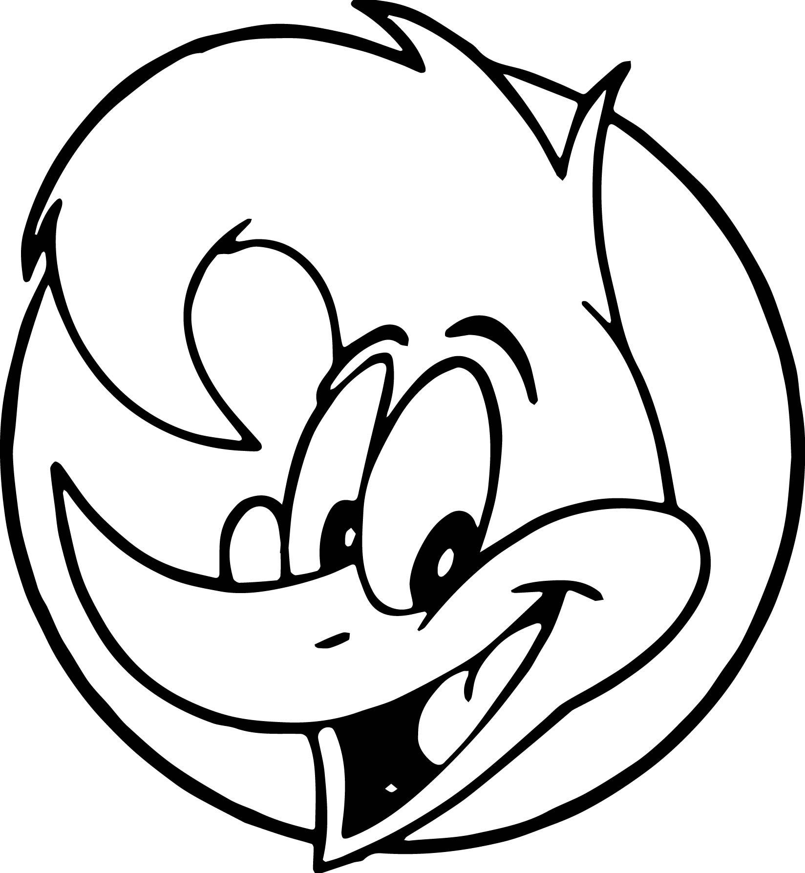 Woody Woodpecker Face Coloring Page | Wecoloringpage.com