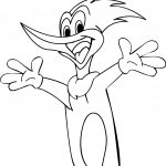 Woody Woodpecker Hey Coloring Page