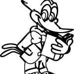 Woody Woodpecker Read A Book Coloring Page