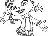 Wreck It Ralph Candle Head Girl Coloring Page