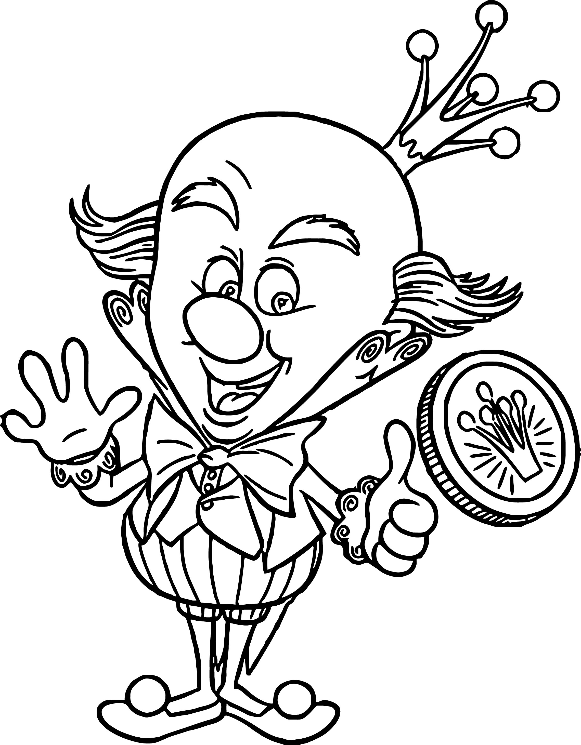 Coloring pages candy - Wreck It Ralph King Candy Medal Coloring Page
