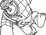 Wreck It Ralph Man Character Punch Coloring Page