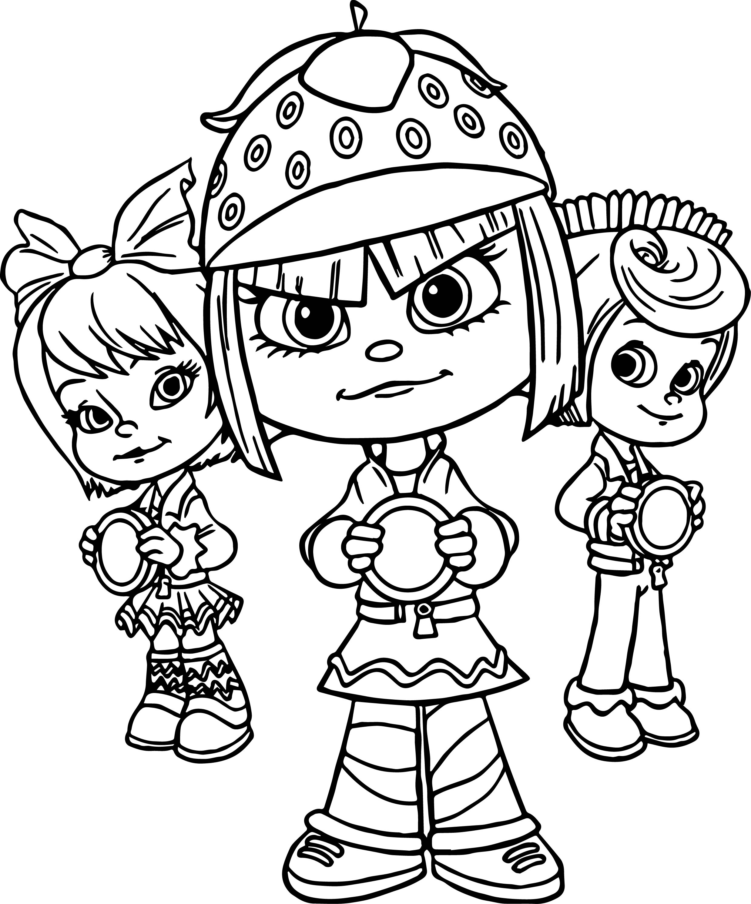Wreck It Ralph Team Coloring Page