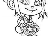 Wreck It Ralph Vanellope Von Schweetz Girl Medal Coloring Page