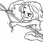 Young Tarzan Spear Coloring Page