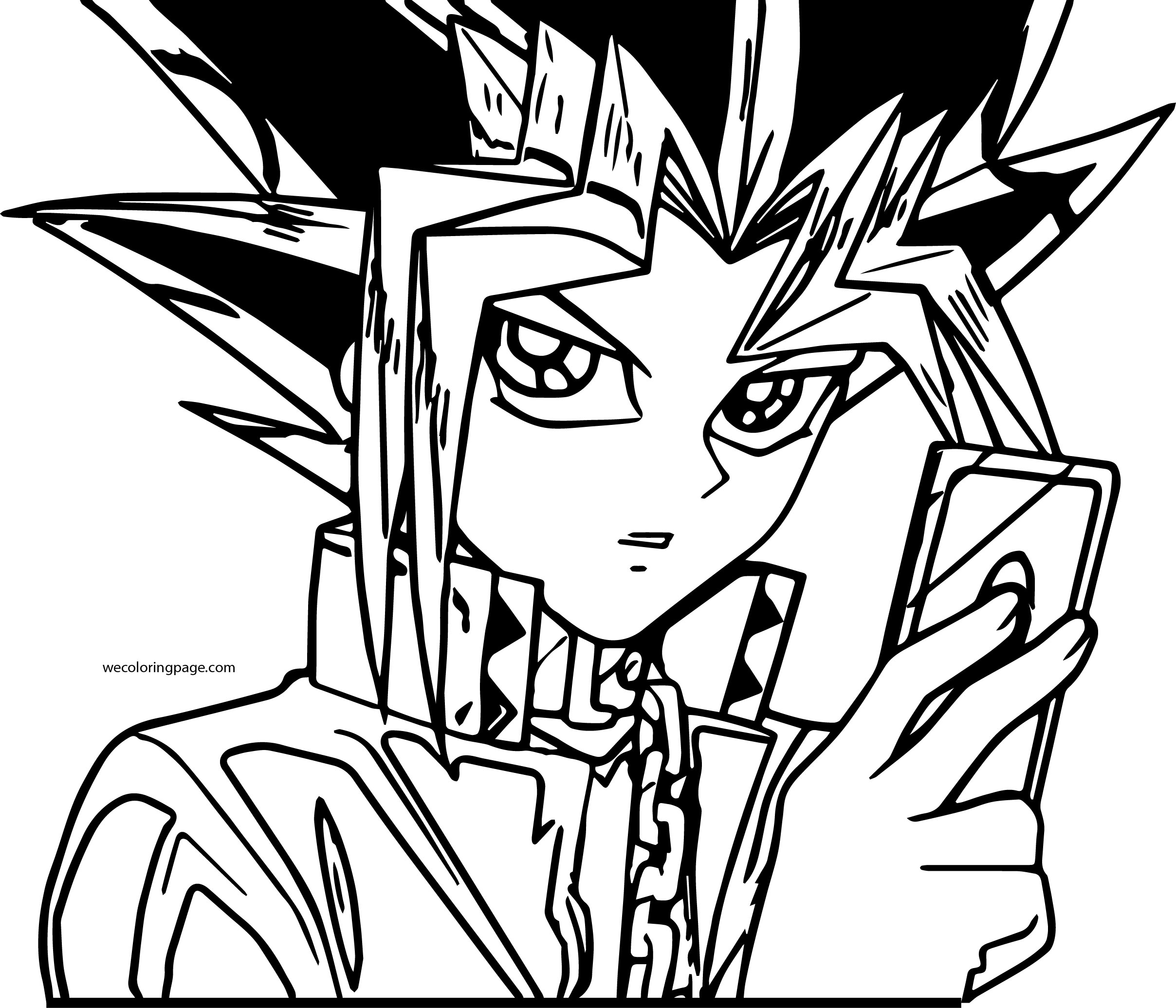 Yu Gi Oh Card Game Coloring Page