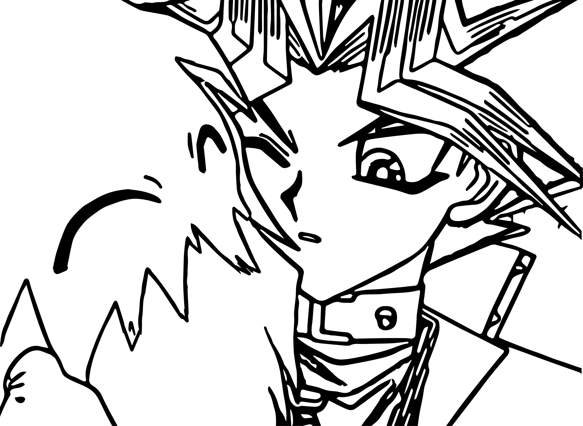 Free coloring pages yugioh - Yu Gi Oh Comic Coloring Page