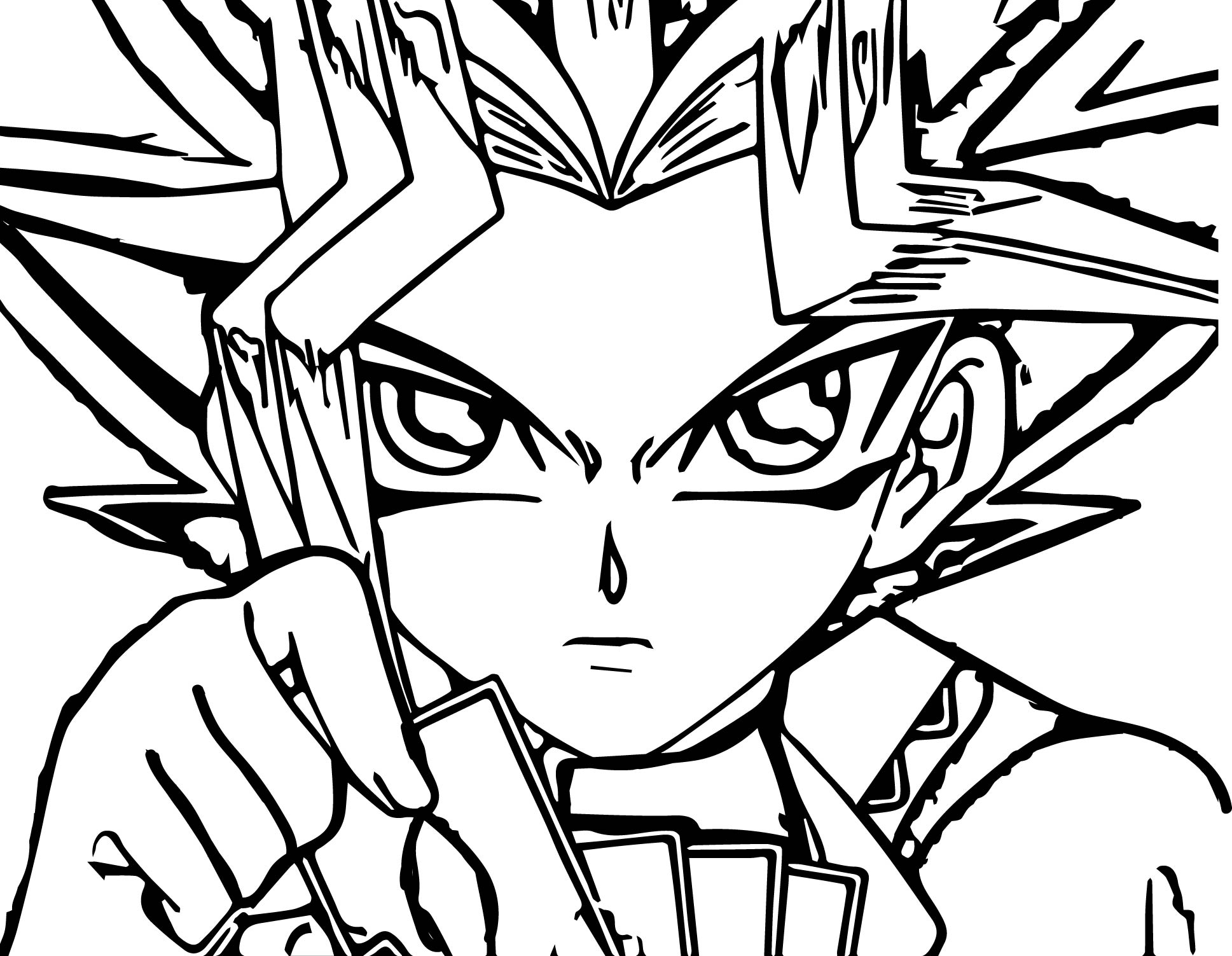 Yu Gi Oh Think Coloring Page
