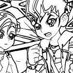 Yu Gi Oh Think Fight Coloring Page