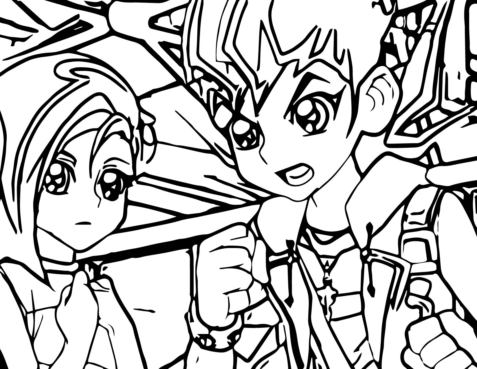 Yu Gi Oh (Yugioh) Think Fight Coloring Page