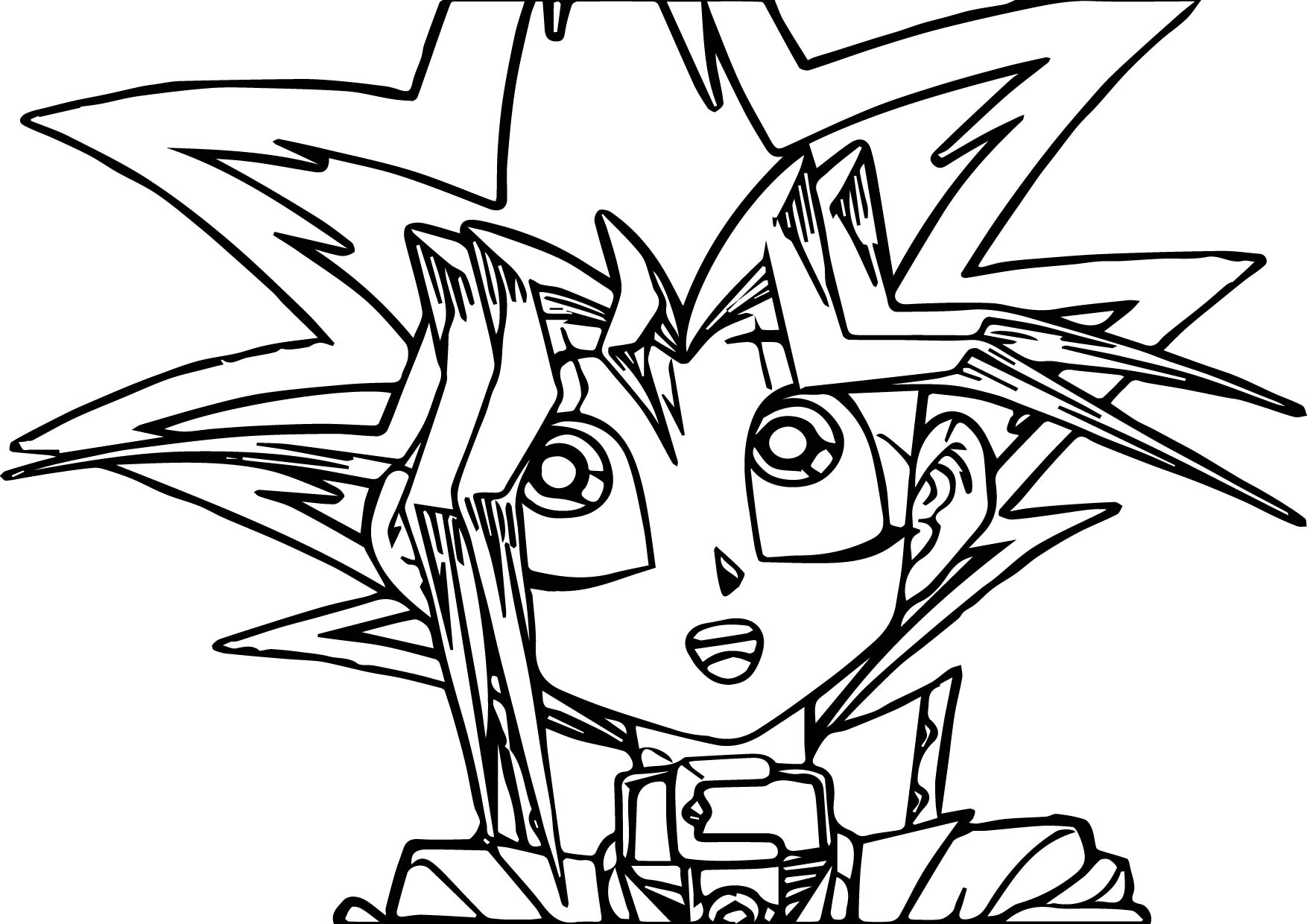 Yu Gi Oh Thinking Coloring Page