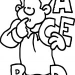 ABC English Teacher Coloring Page