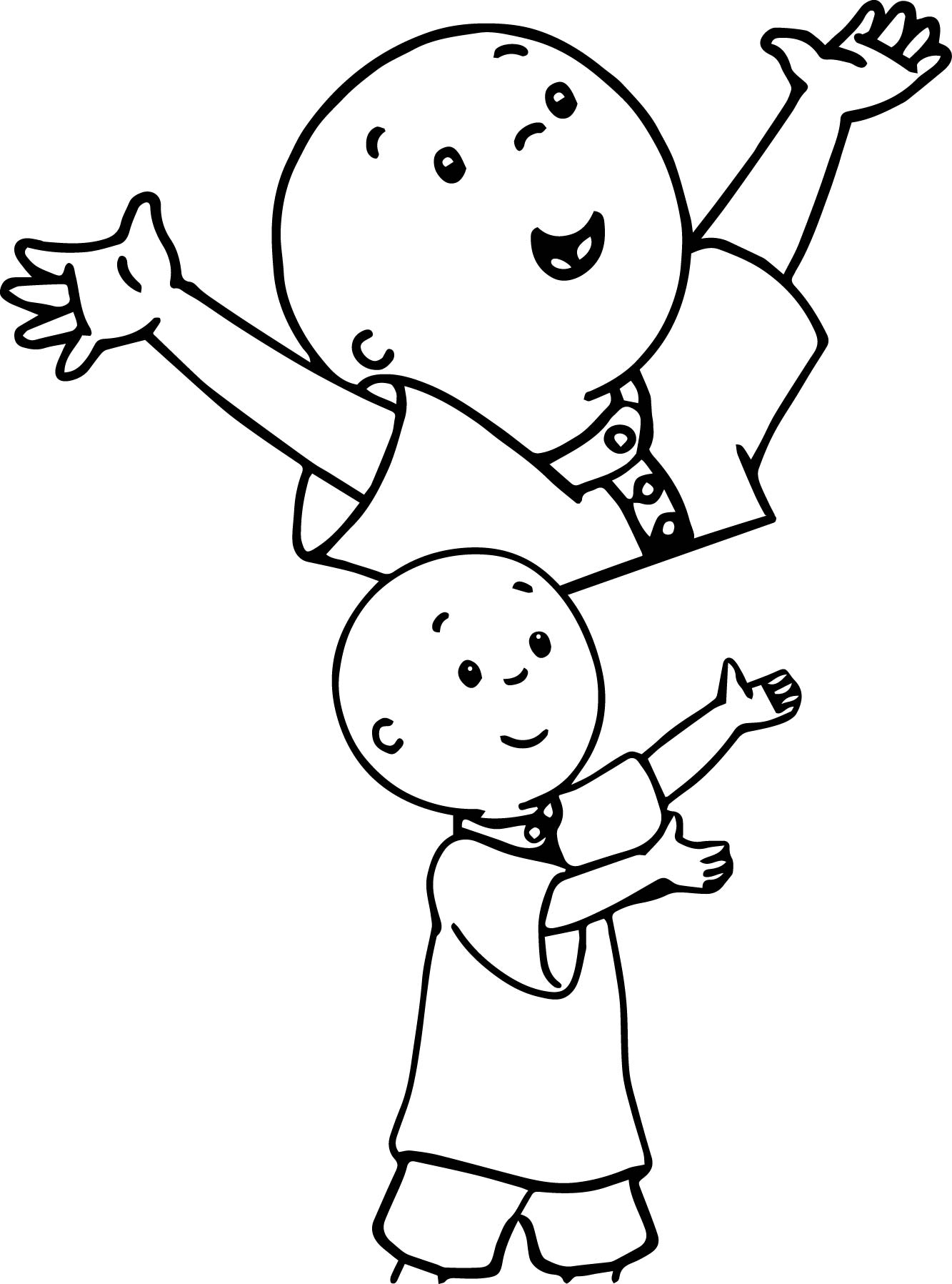 Amazing Caillou Coloring Page