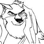 Angry Balto Wolf Coloring Page