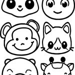 Animals Face Coloring Page