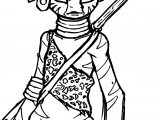 Anthro Zecora Coloring Page