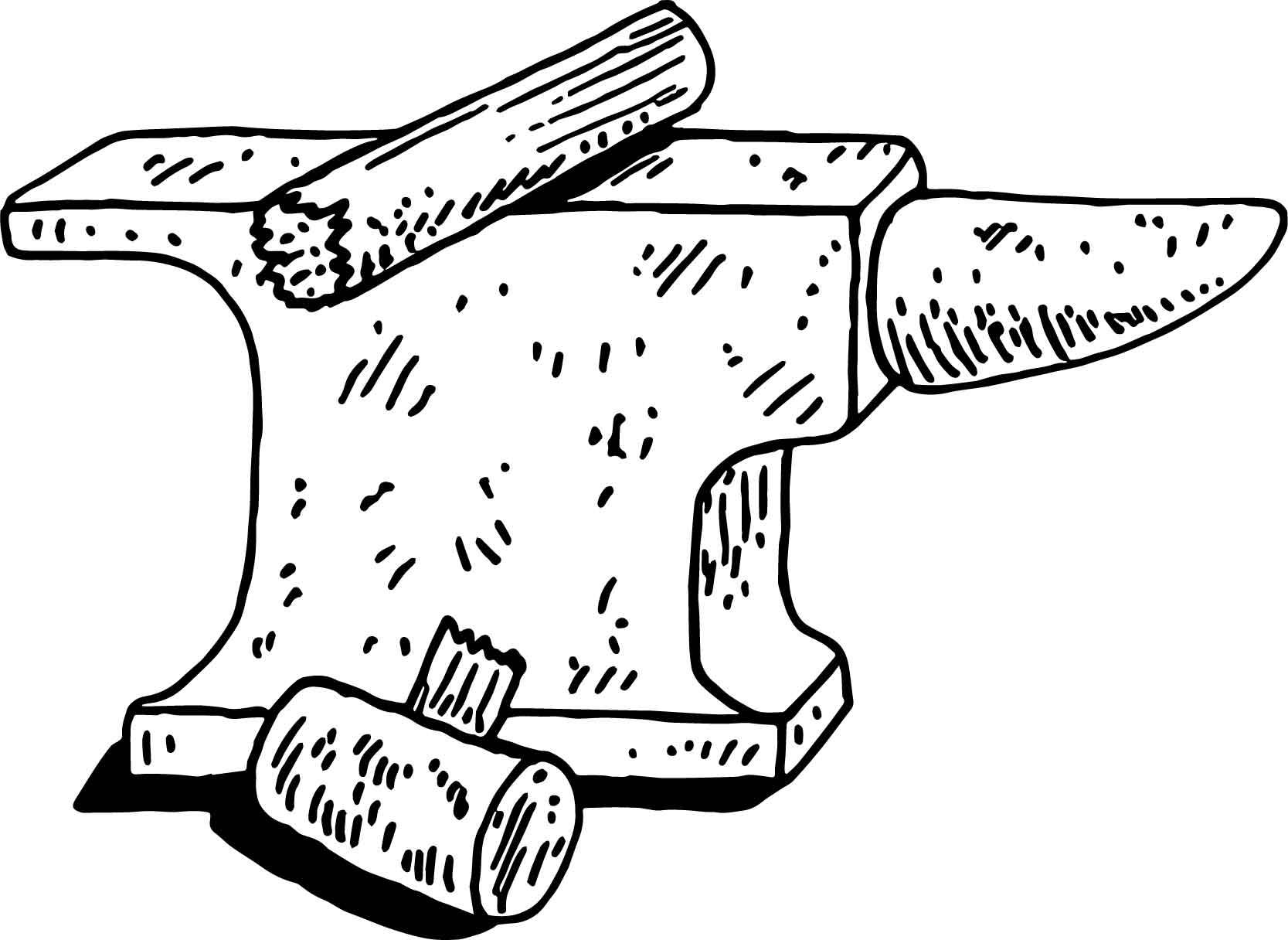Anvil Carpenter Coloring Page
