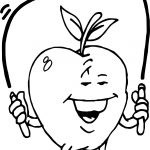 Apple Jump Rope Coloring Page
