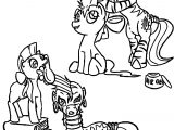 Applebloom And Zecora Trade Hairstyles Coloring Page