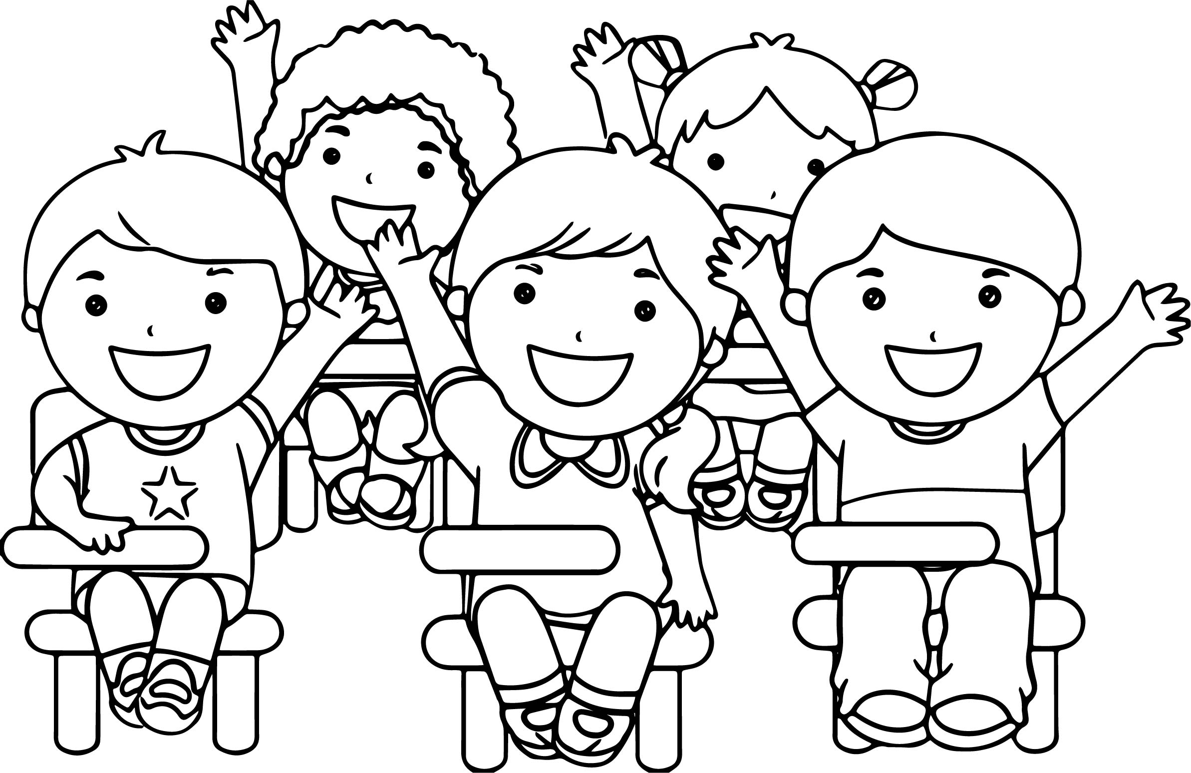 at the school children coloring page - Child Coloring Pages