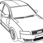 Audi Car A4 Coloring Page