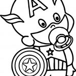 Baby Captain America Coloring Page