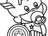 baby captain america coloring pages - photo#5