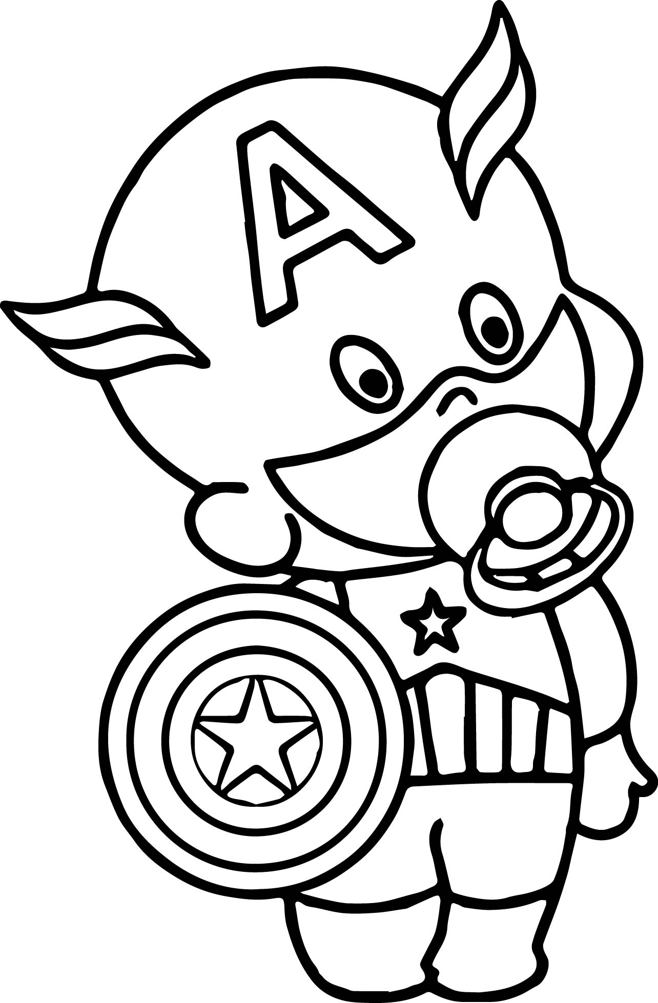 baby captain america coloring pages - photo#1