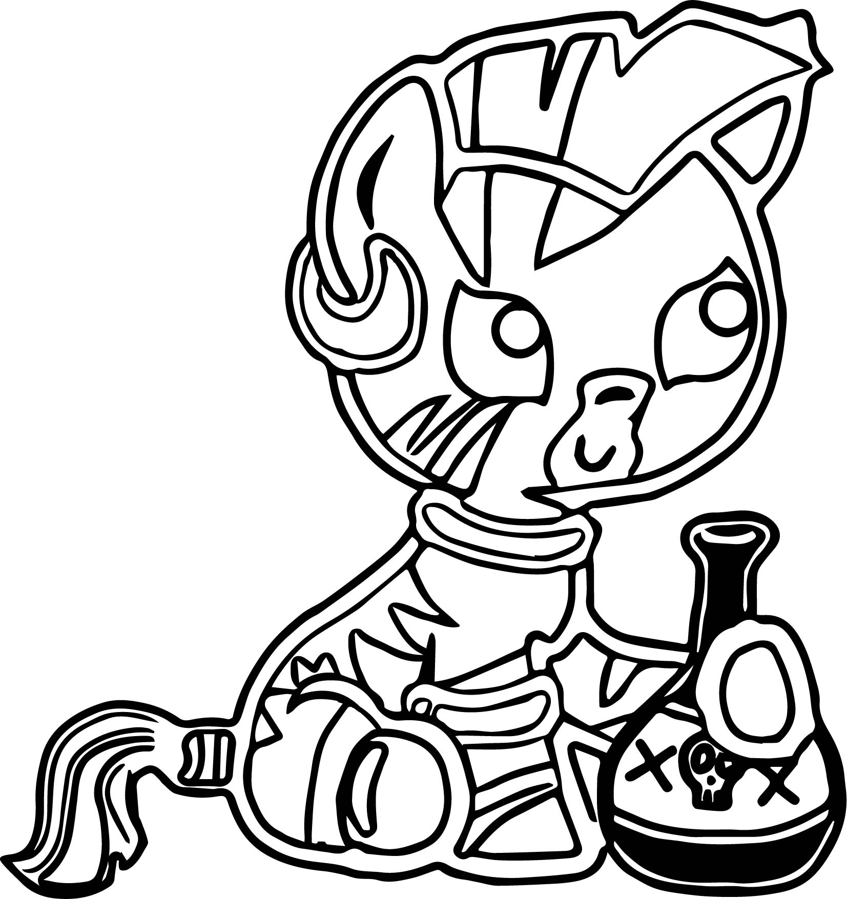 Baby Zecora Danger Bottle Coloring Page