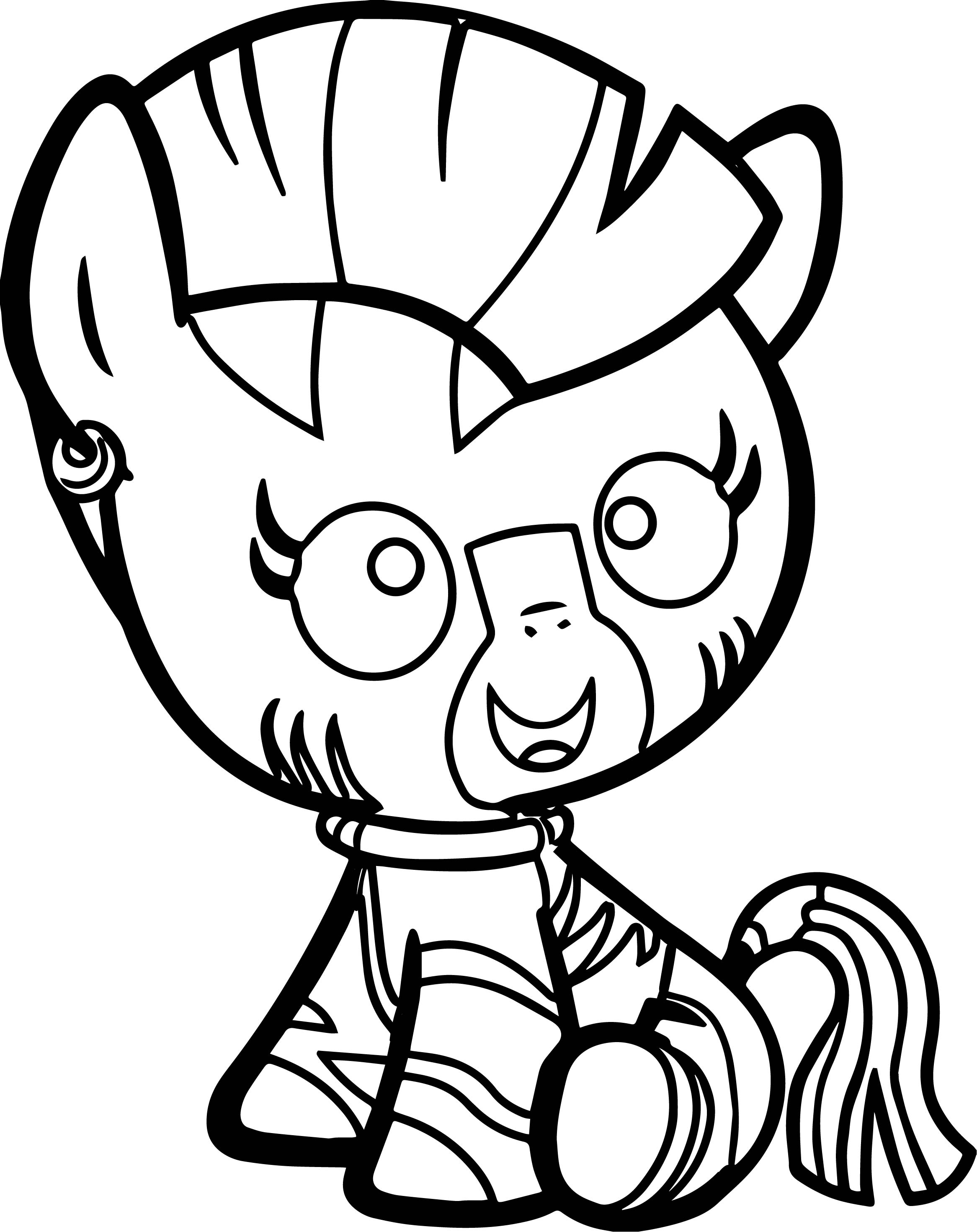 My Little Pony Zecora Coloring Pages : Baby zecora revamped coloring page wecoloringpage