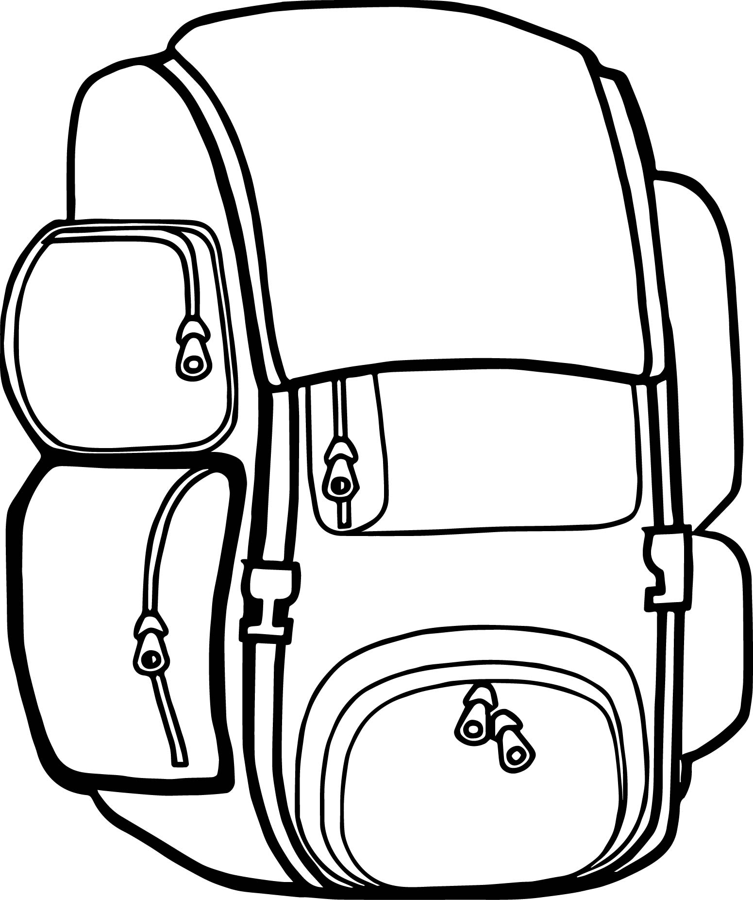 Backpack Coloring: Backpack Free Images Camp Camping Coloring Page