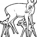 Bambi Mother Child Play Coloring Page
