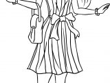 Barbie Shopping Coloring Page