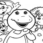Barney Friends Coloring Page