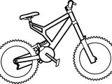 Basic Bike Biycle Coloring Page
