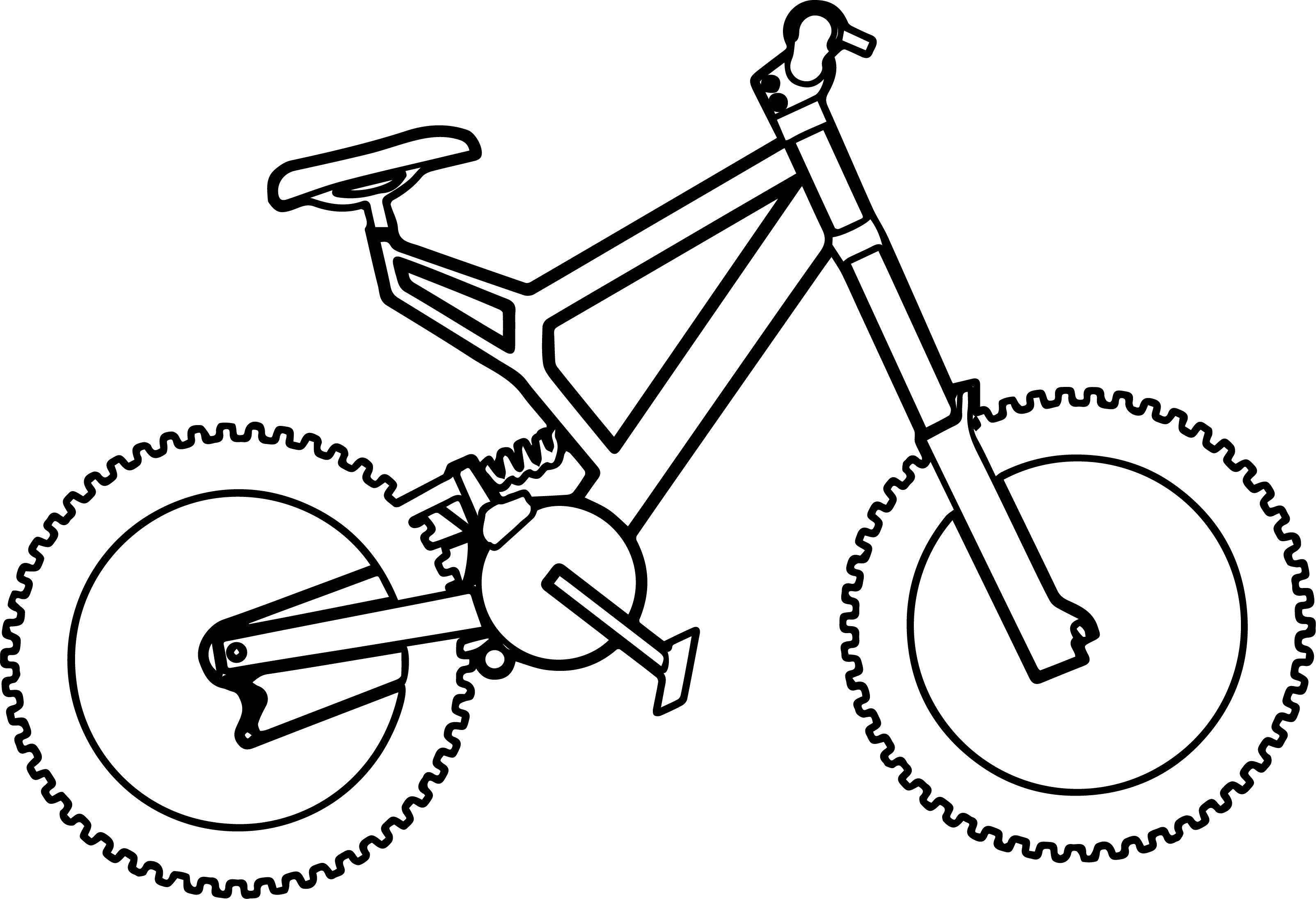 Basic bike biycle coloring page for Coloring pages bikes