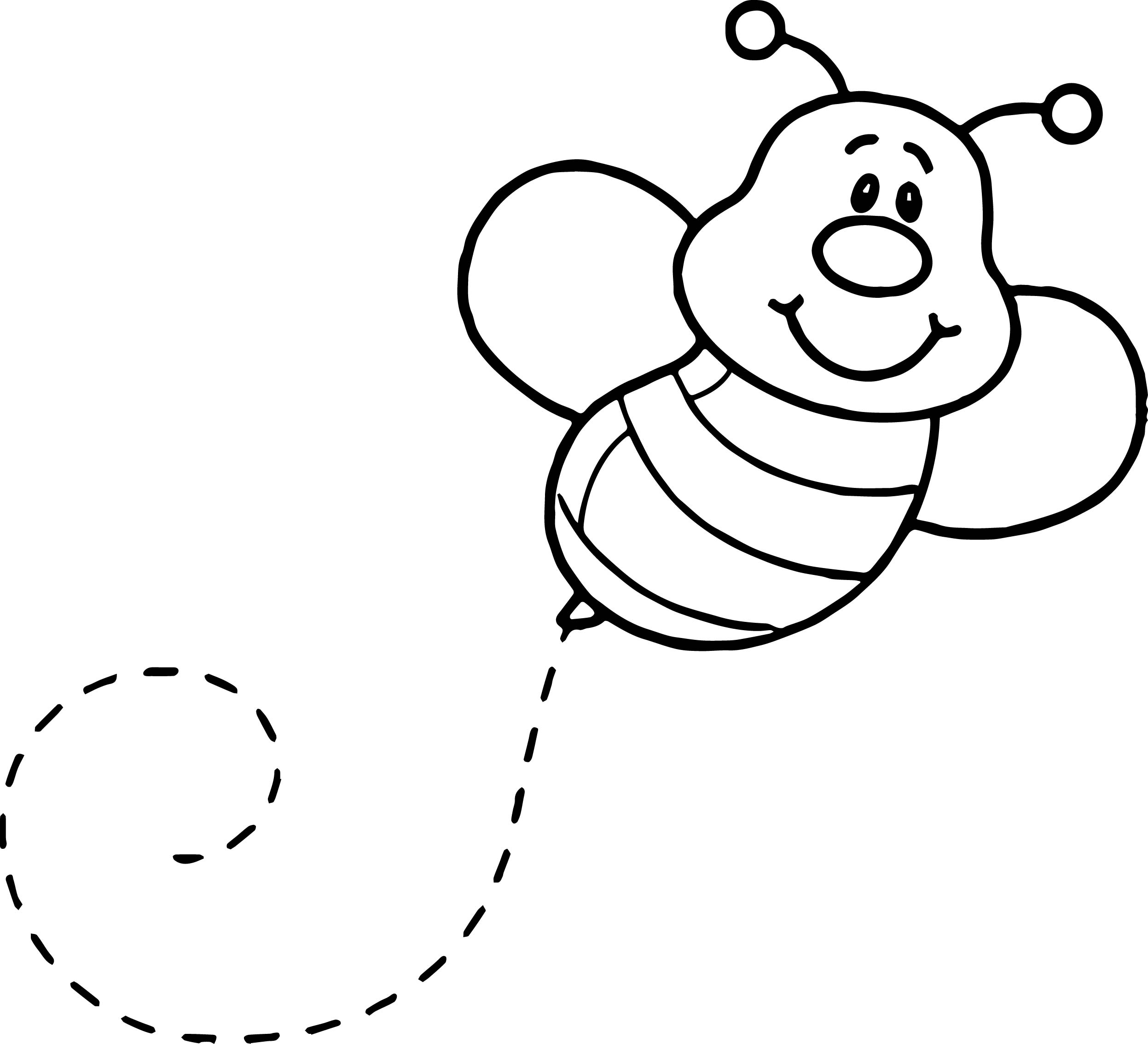Basic Fly Bee Coloring Page