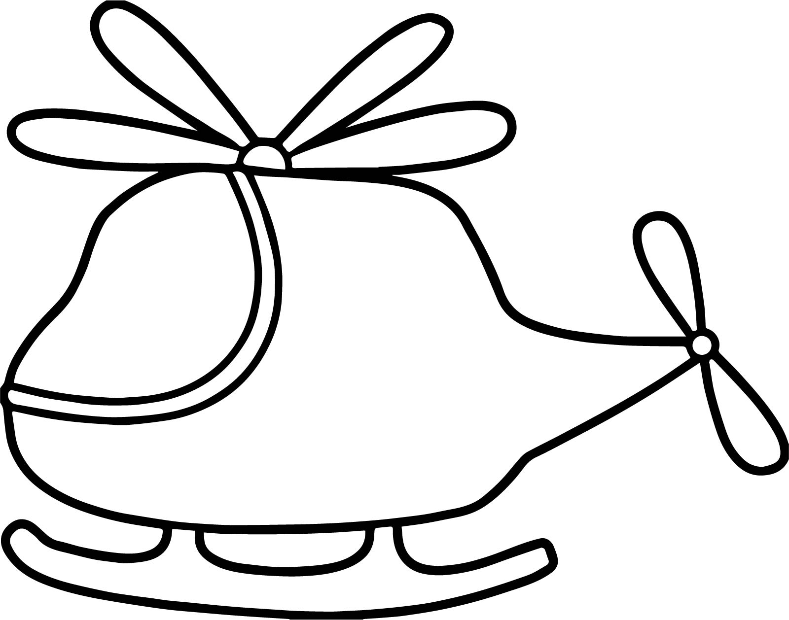Basic Helicopter Coloring Page