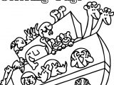 Basic Noah Ark Coloring Page