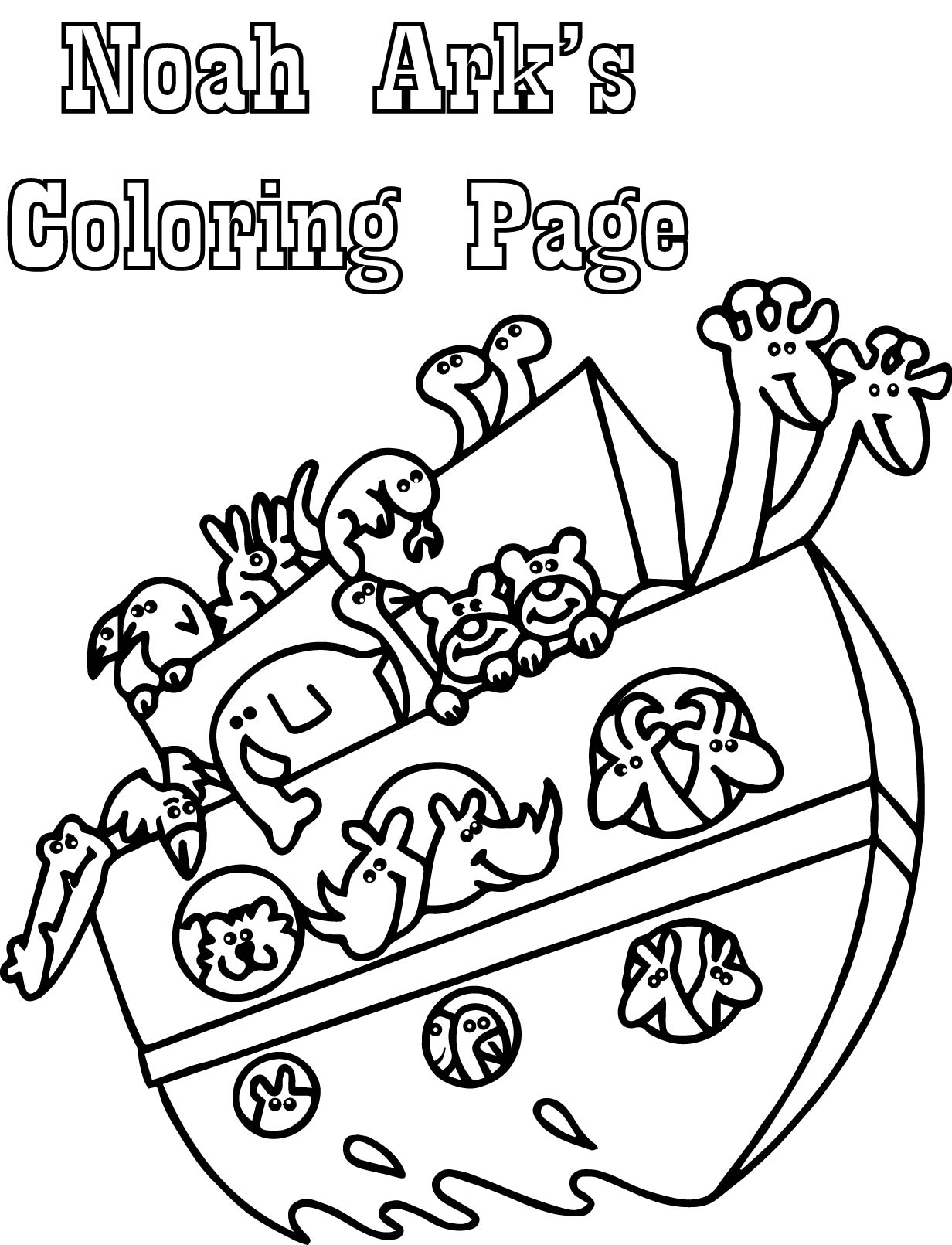 Basic noah ark coloring page for Noah ark coloring page