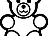 Basic Preschool Bear Coloring Page