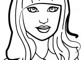 Beautiful Cool Girl Coloring Page