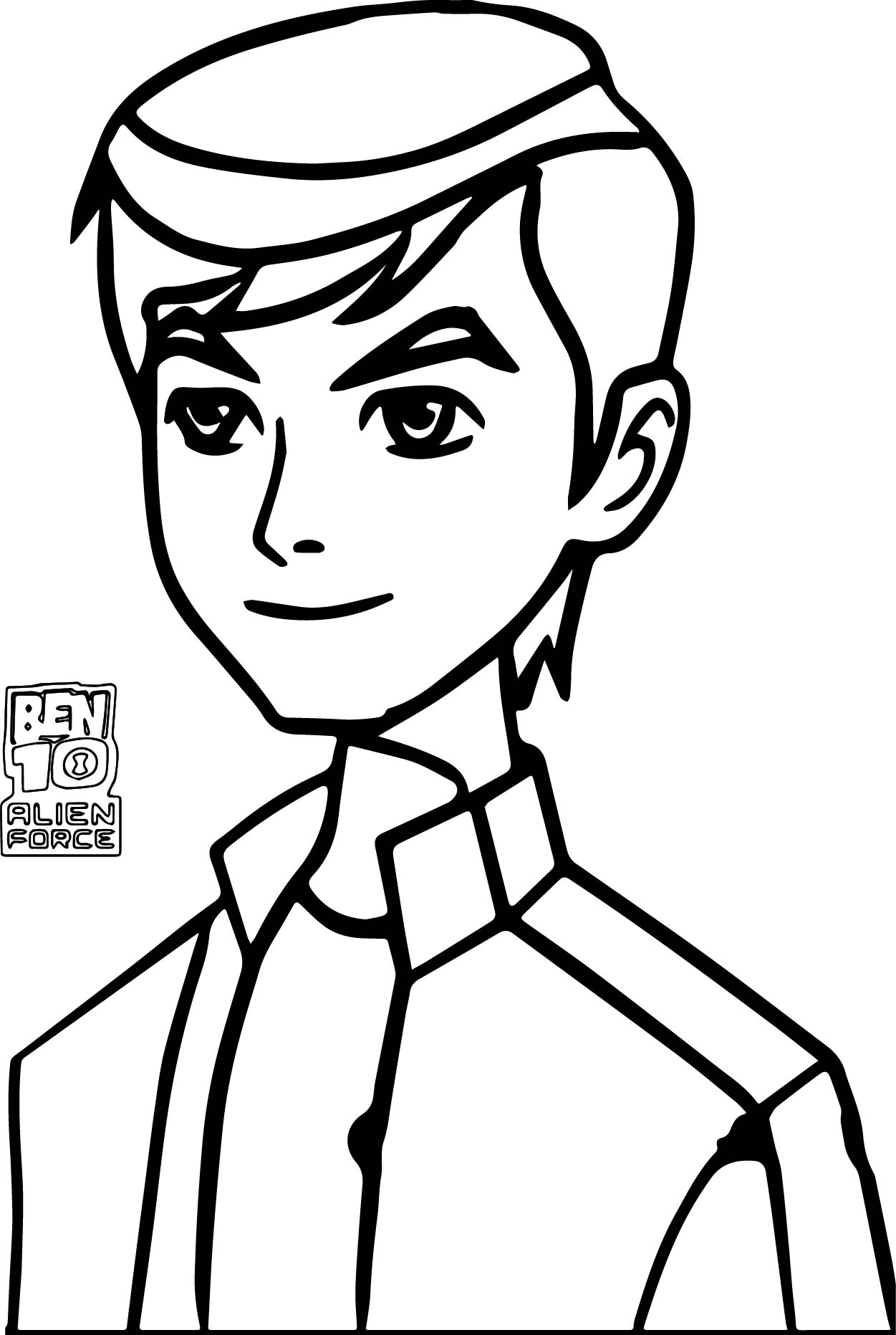 ben 10 alien force episode x ben coloring page wecoloringpage