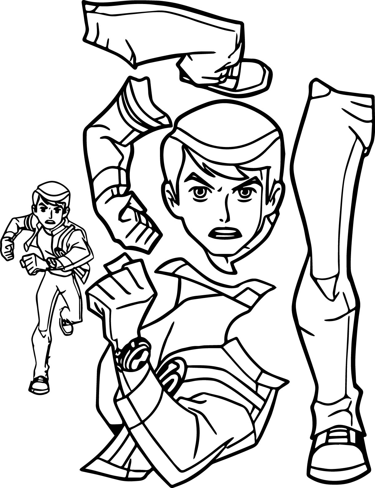 benten alien force giant part coloring page | wecoloringpage - Ben Ten Alien Force Coloring Pages