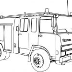 Berliet Camiva 770 Fire Truck Coloring Page