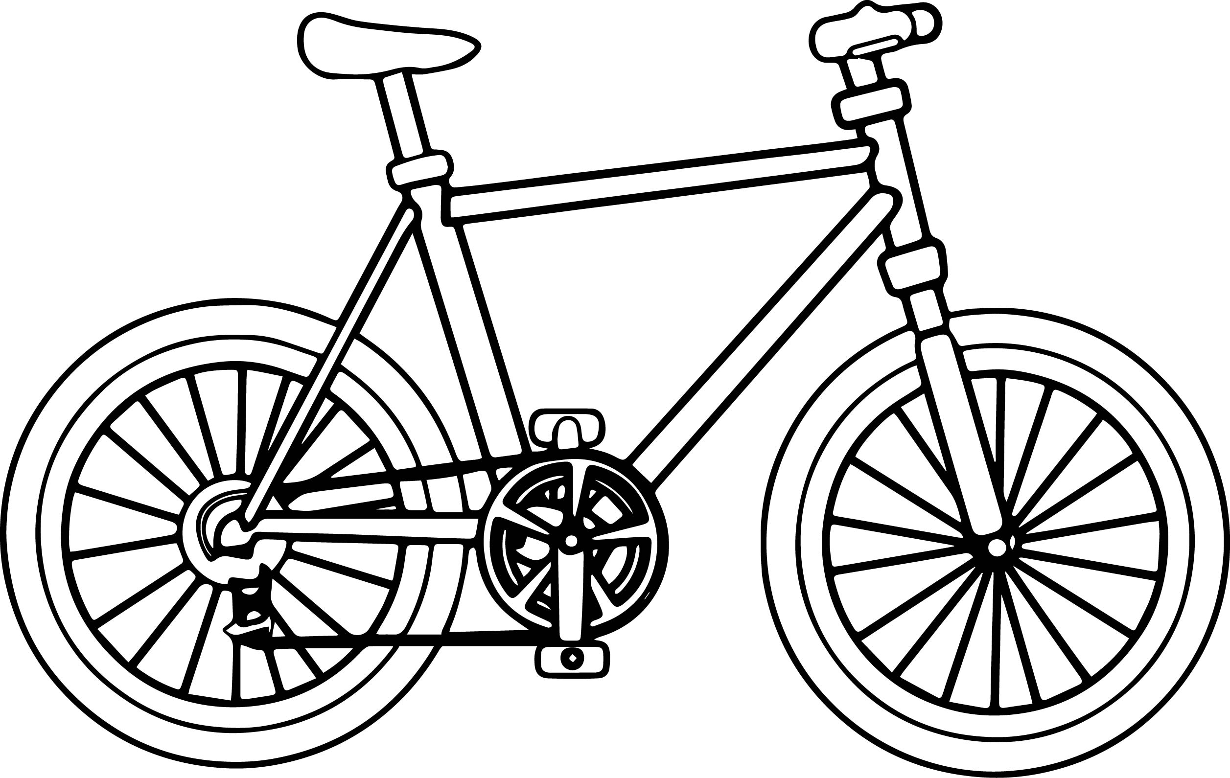 Big Bike Biycle Coloring Page