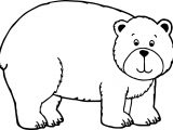 Big Cute Bear Coloring Page